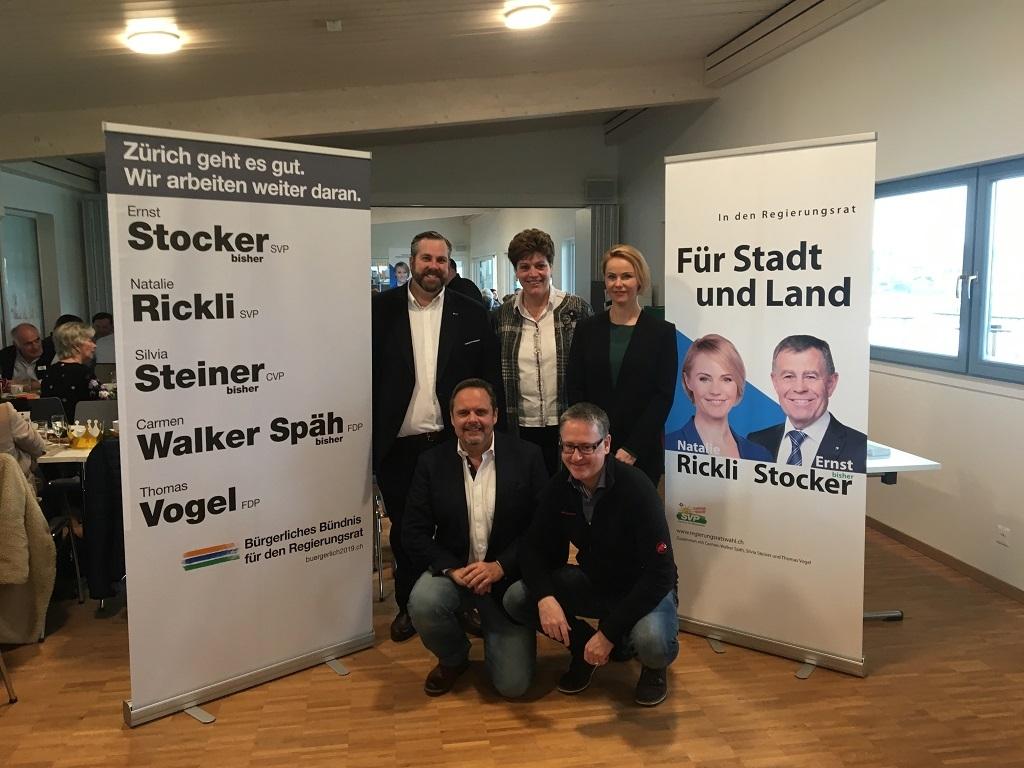 Natalie Rickli - Brunch zusammen mit Silvia Steiner und Thomas Vogel